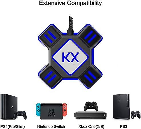 Caja de conversión para mando de juego de Xbox PS4 PS3, color negro: Amazon.es: Hogar