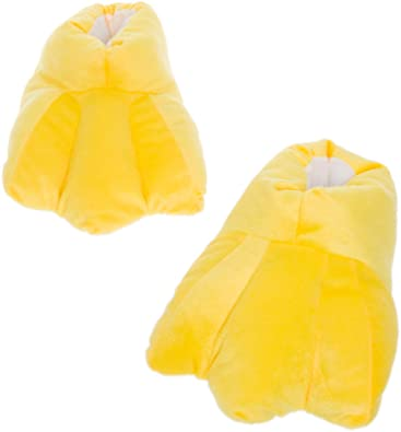 49c6e58d82d3 Silver Lilly Duck Feet Slippers - Plush Novelty Animal Costume House Shoes w Comfort  Foam