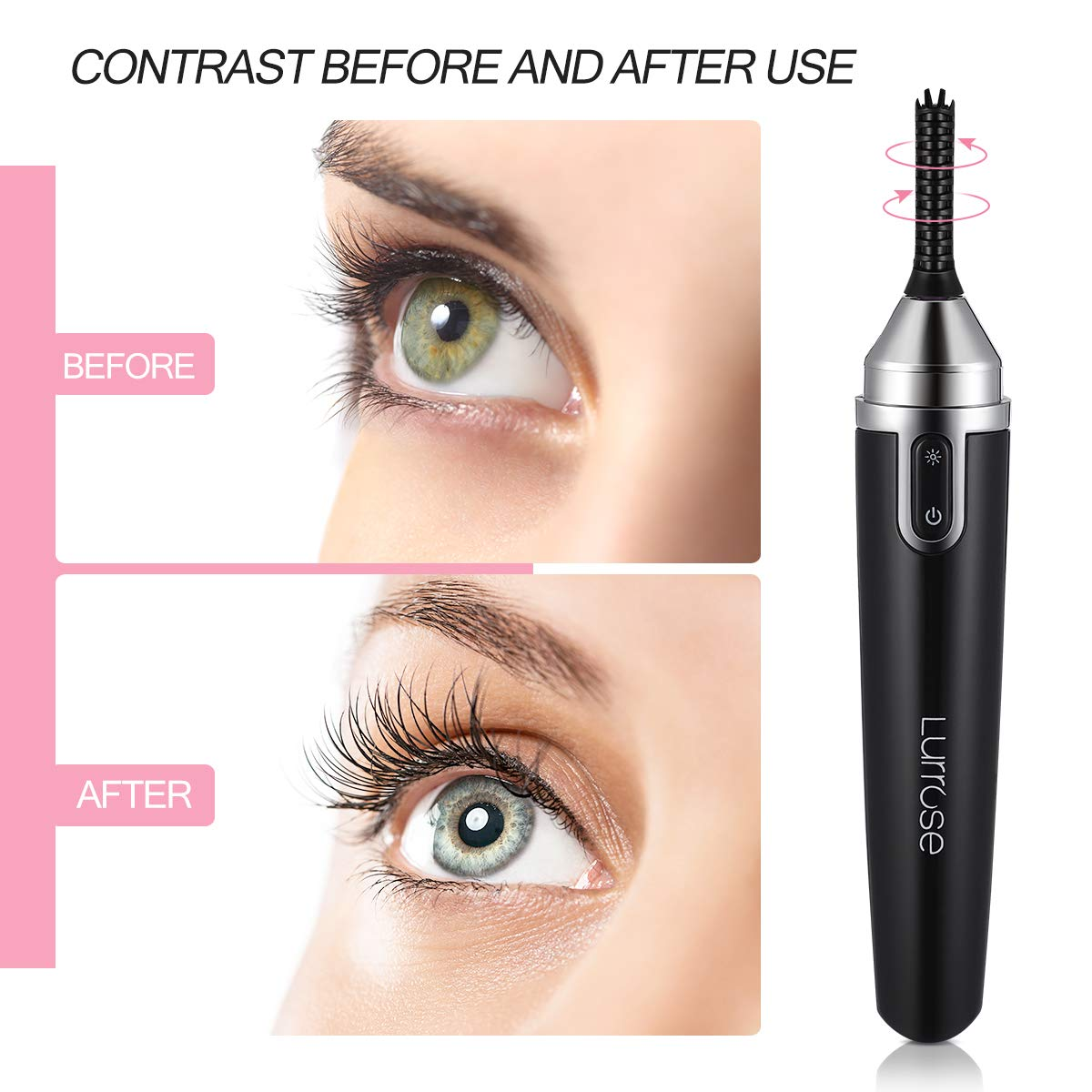 Electric Lash Curler, Heated Eyelash Curler Portable Quick Heating Long Lasting Natural Eyelash Curler