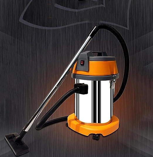 XGHW Aspiradora Seca y húmeda, aspiradora 1500W 30L con silenciador, húmeda/Seca/sopladora multifunción 3 en 1, Metal de Acero Inoxidable, súper succión, para aspiradora Comercial Office: Amazon.es: Hogar
