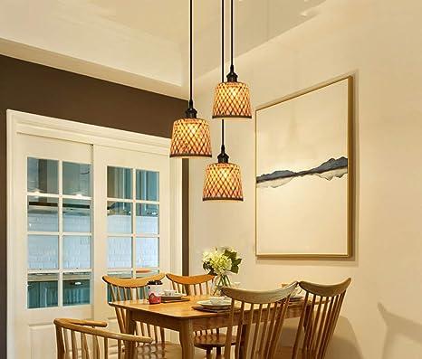 SHADIOA Comedor rústico, lámpara Colgante, iluminación, luz ...