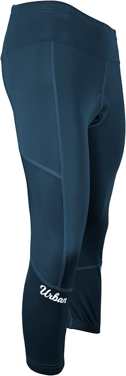 The Resistance - Womens 3D Padded Cycling 3/4 Capri Tights, with Zip Pockets