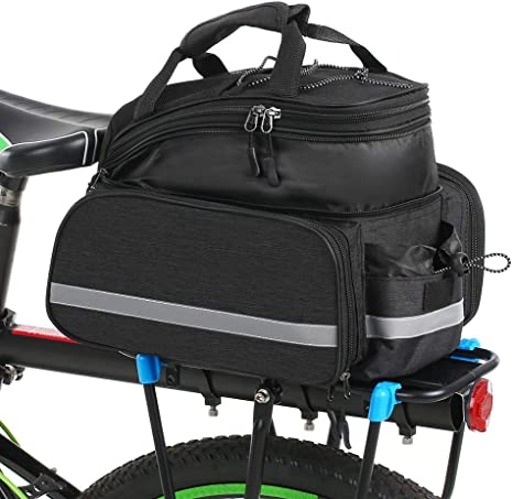 BAIGIO Bike Double Pannier Bag 25L Bicycle Rear Seat Trunk Bag Cycle Storage Pouch with Rain Cover