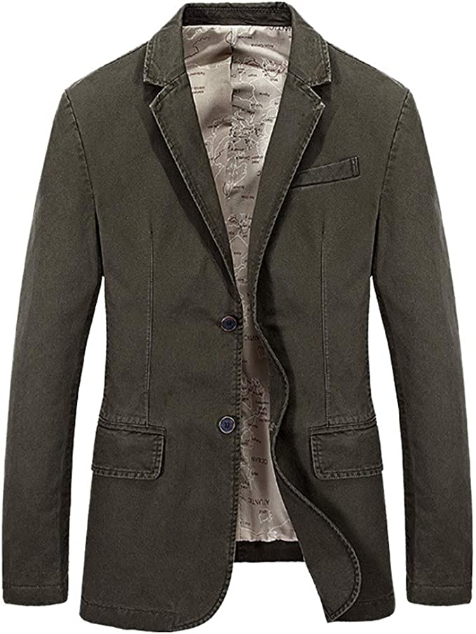 Amazon.com: WORTHIT Casual Blazer Slim Fit Traje Chaquetas ...