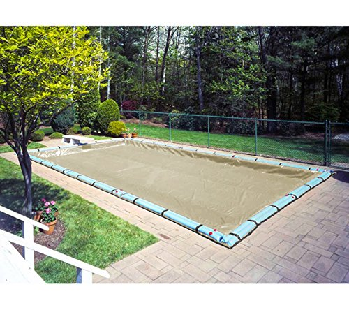 Supreme Plus Tan / Silver Reversible Winter Cover with 5-Foot Overlap for 16-Foot-by-36-Foot Rectangle In-Ground and Above-Ground Swimming Pools - 36' Diameter 5 Light
