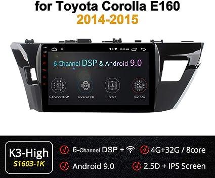 Xbrmmm 4g 10 1 Zoll 8 Kern Android Auto Multimedia Gps Navigationssystem Für Toyota Corolla 2014 2016 Multifunktionsspiegelverbindungs Lenkrad Steuerung Voller Touch Screen 2 5d Ips Nano Küche Haushalt