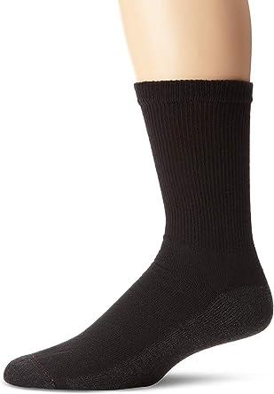 Hanes men/'s socks 12//6 pairs of Big /& Tall crew shoe size 12-14 Black gray