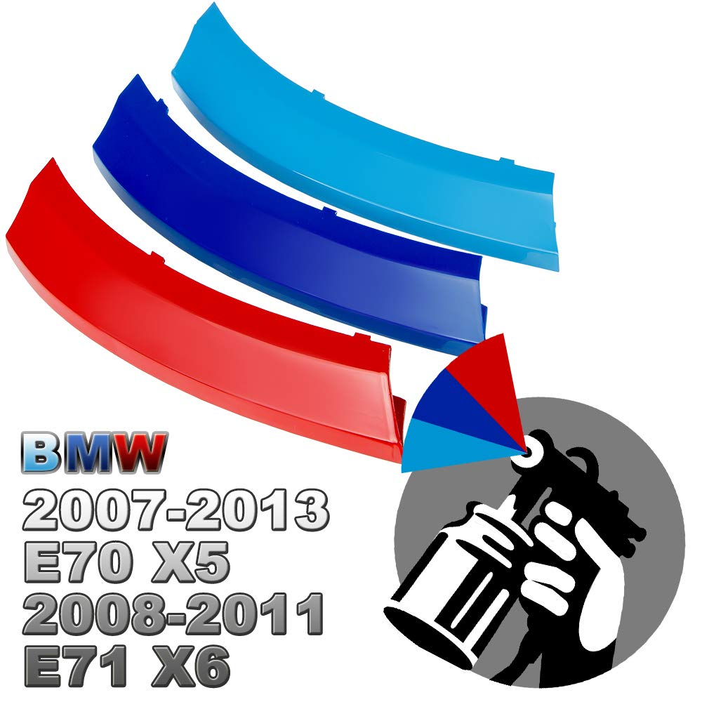 5-Layer Painted M-Color Kidney Grille Stripe For BMW Vehicles (F10 F11 5er/ 10-Beams) Rolling Gears