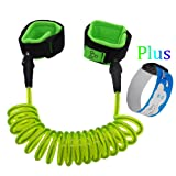 Amazon Price History for:HITROVER Wrist Leash for Child/Kid/Toddler| Safety Harness/Strap/Link/Tether for walking Kids (Standard, Green Leash+ID Band)