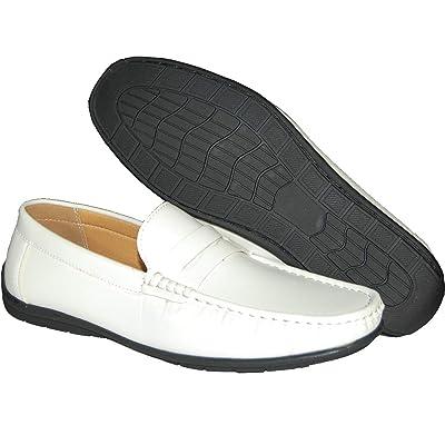 Sedaghatti | Krazy Loafers Hamptons Men's Eco-Friendly Slip On White Penny Loafer | Loafers & Slip-Ons