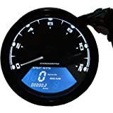 TurnRaise Universal LCD Digital Indicateur de Vitesse Assemblée Odomètre Motorcross F1 F2 F4 Cylindres CF125 Moto Tachymètre (Moto Tachymètre)
