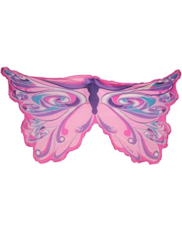 Hifot Dreamy Dance Schmetterling Schal Prinzessin Fee Fl/ügel Schmetterling Fl/ügel Kleid Up Kost/üm mit Filzmaske 2 Pack