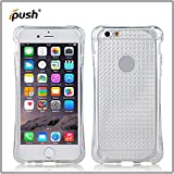 ipush case for iphone 6 plus soft Flexible Thin Gel TPU Bumper Cover with Shockproof Protective for iPhone 6 plus / iPhone 6s plus (Transparent white)