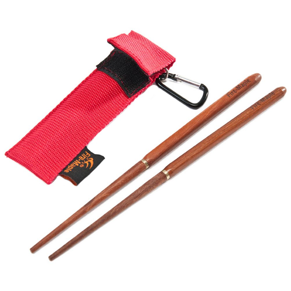 Fire-Maple Foldable Rosewood Chopsticks with Carry Bag Perfect for Backpacking Camp and Travel Portable Tableware SYNCHKG069784