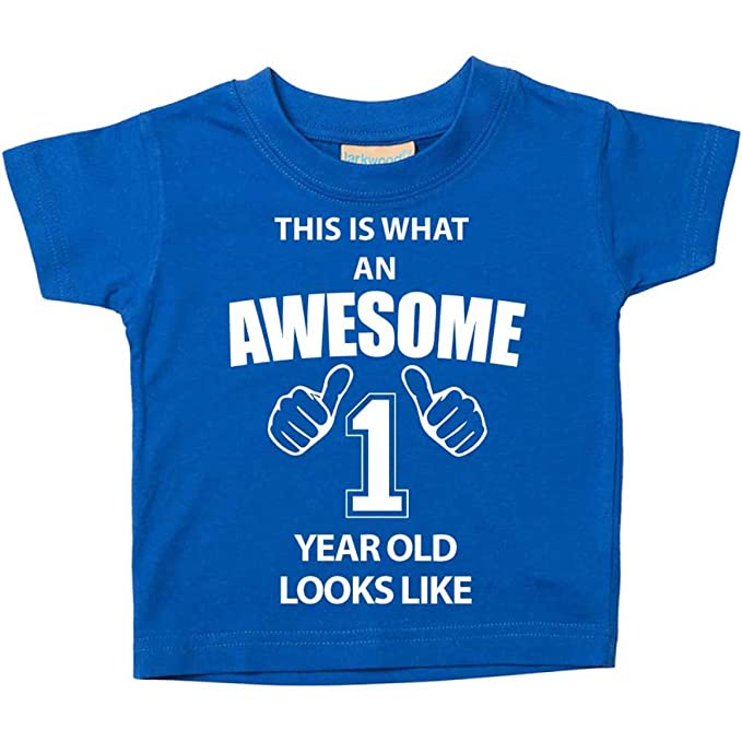 60 Second Makeover Limited This Is What An Awesome 1 Year Old Looks Like Blue Tshirt 1st Birthday Baby Toddler Kids Available In Sizes 0 6 Months T