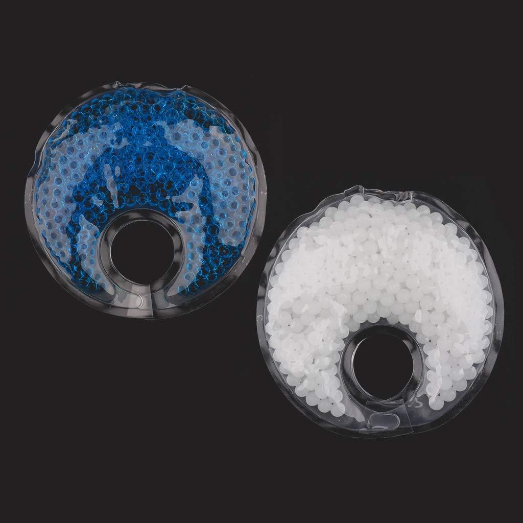 Fenteer 2X Brustpflege Blau + Wei/ß 2-in-1 Thermo-Pads Stillzubeh/ör Stilleinlagen F/ür Frauen