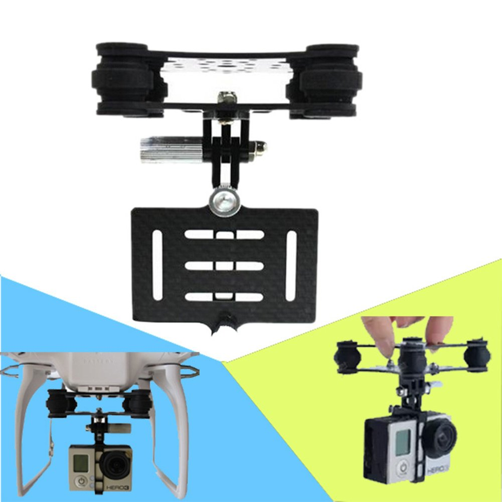Qiyun Ordinary PTZ Anti-vibration Carbon Shock Absorption Plate Camera Gimbals Mount for GoPro Hero 3/3+/4 DJI Phantom