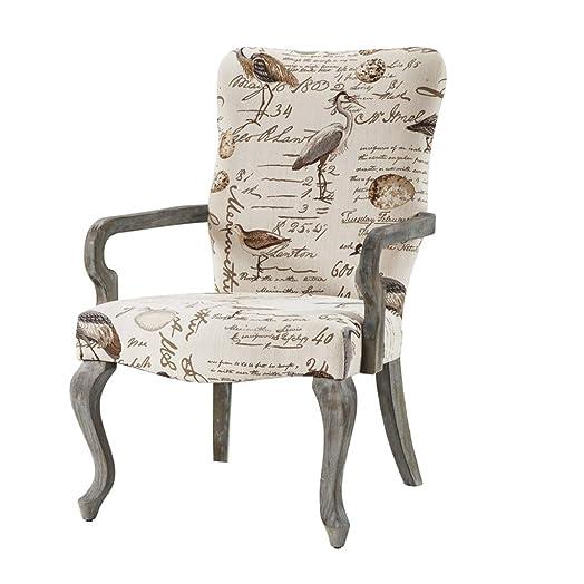 Madison Park Multi Arnau Goose Neck Arm Chair Ivory See