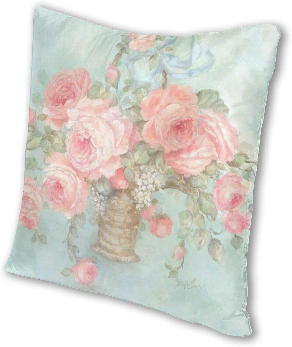 Flowers Decorative Square Throw Pillow Case Cushion Covers for Sofa JA