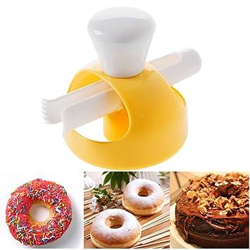 fashionmall 3 inch Donut molde para galletas (cortador de postres de Galletitas eléctrica, Cake Pan tostadas cortador Sugarcraft molde para la cocina ...