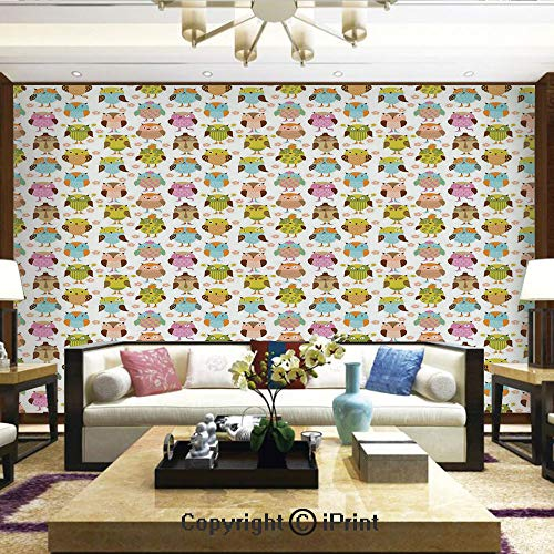 Sunglasses Bone Stripe - Lionpapa_mural Wall Decoration Designs for Bedroom,Kitchen,Self-AdhesiveArtistic Floral Bird Figures Daisies Oranges Sunglasses Stripes Swirls Hearts Colorful Decorative,Home Decor - 66x96 inches