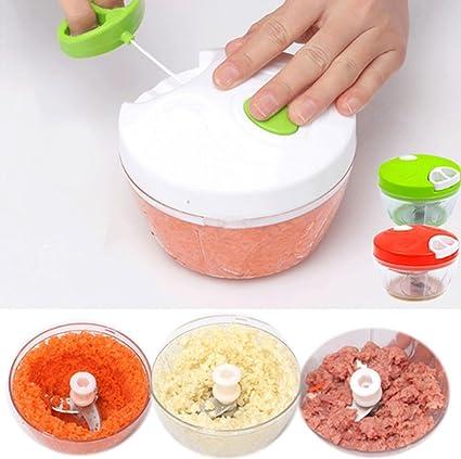 Máquina De Ajo Manual, Utensilios De Cocina Multiuso Poderoso Agitador De Cebolla Vegetal Portátil Fácil