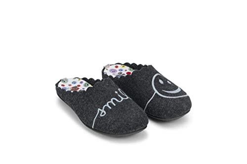 MARPEN Smile Negro, Zapatilla de Andar por casa: Amazon.es: Zapatos y complementos