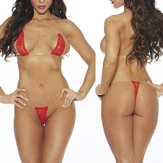 08c766e87878 Lingerie Set,Women Sexy Lace Bra Bikini Intimates G-String Thong Underwear  Bodysuit (
