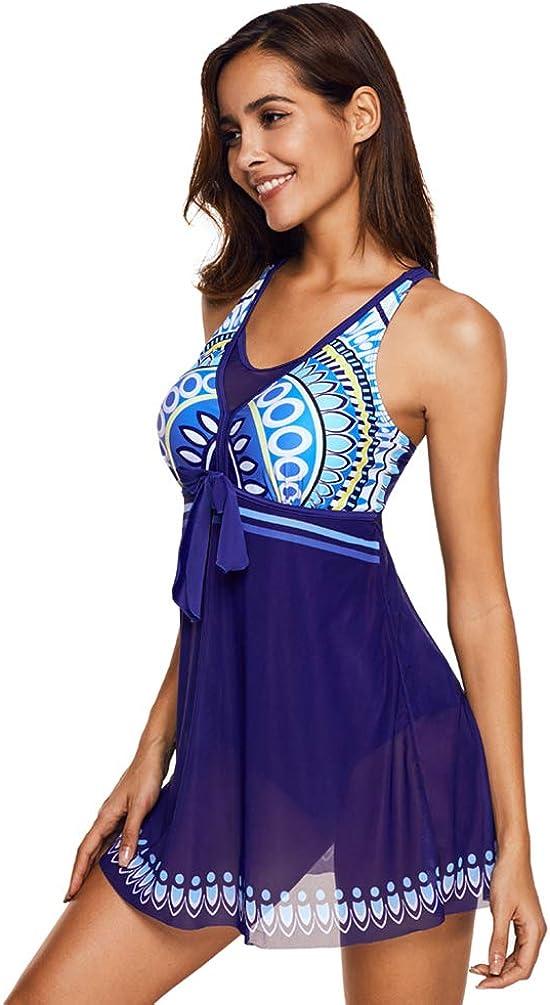 YiiJee Femme Maillot de Bain Amincissant Bikini Robe Grande Taille Beachwear
