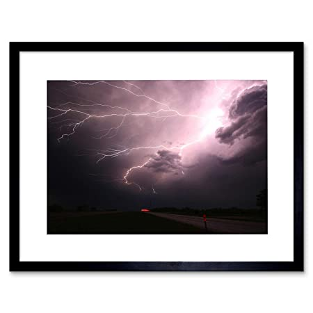 The Art Stop Photo Nature Weather Lightning Electric Storm Framed Print F12X4079