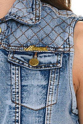 M.Michel Women's Denim Vest - Style 575 - Light Blue - Size Small by M.Michel (Image #5)