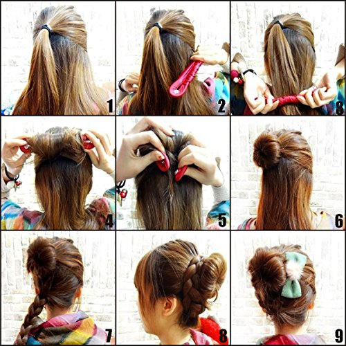 Shells 2PCS Classy Black Color Cloth Magic Clip French Twist Hairstyle Donut Bun Former Maker Hairstyle Must Haves Tool