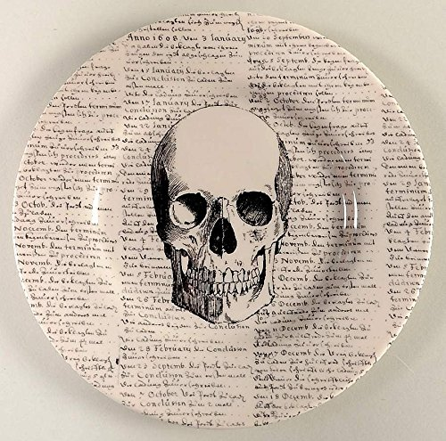 The Victorian English Pottery Halloween Skull Script 8-1/2