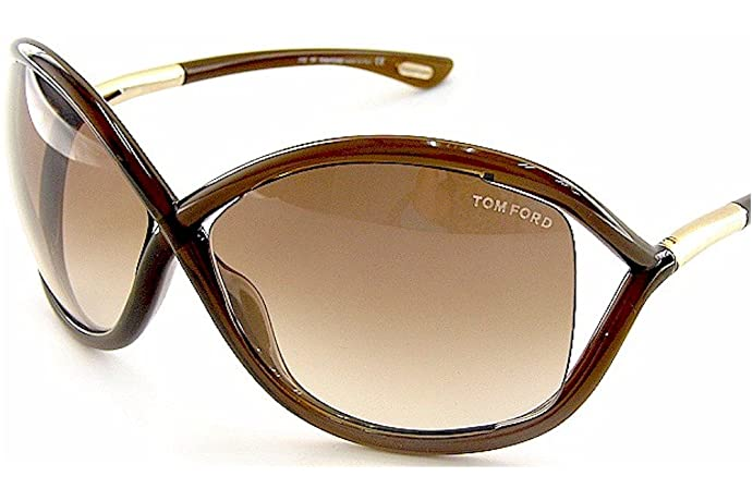 15f4731c3a Amazon.com  Tom Ford Whitney TF 9 692 Dark Brown   Brown Gradient ...
