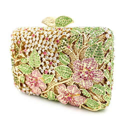 Bag Ladies Clutch with Bag Diamond Hollow Evening Bag Rhinestone Crystal Metal pqTw1H