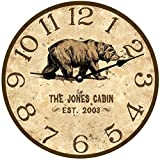 Personalized Bear Wall Clock- Personalized Bear Lodge Clock Review