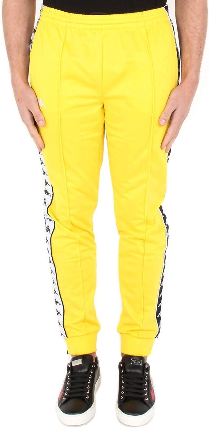 historia agrio bomba  Kappa Rastoria Slim 2019 - Pantalones para hombre amarillo XL: Amazon.es:  Ropa y accesorios