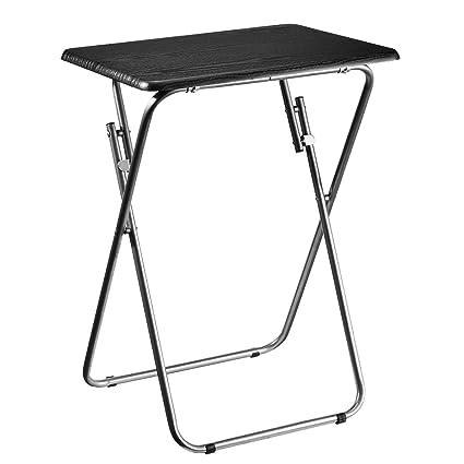 Aingoo Petite Table Pliante TV Snack Table de Jardin Table de pique-nique  (noir)