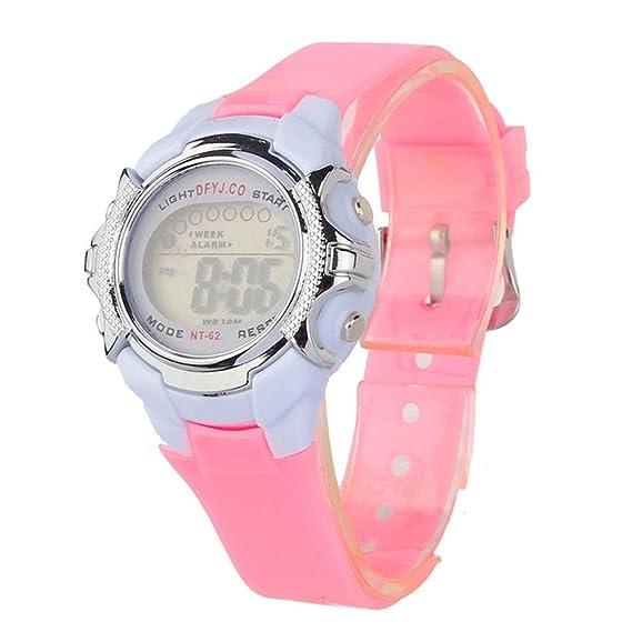 Moda niños Digital LED cuarzo alarma fecha deportes reloj de pulsera para los niños, niñas