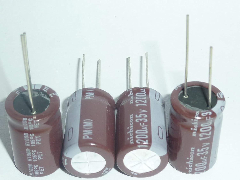 5PCS 1200uF 35V PM Series 16x25mm 35V1200uF Condensador electrol/ítico de aluminio de baja impedancia