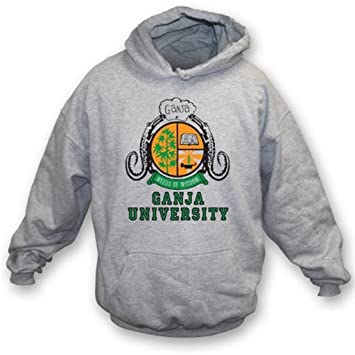 TshirtGrill La sudadera con capucha de la universidad de Ganja (según lo llevado por Bob Marley), colorea gris: Amazon.es: Deportes y aire libre
