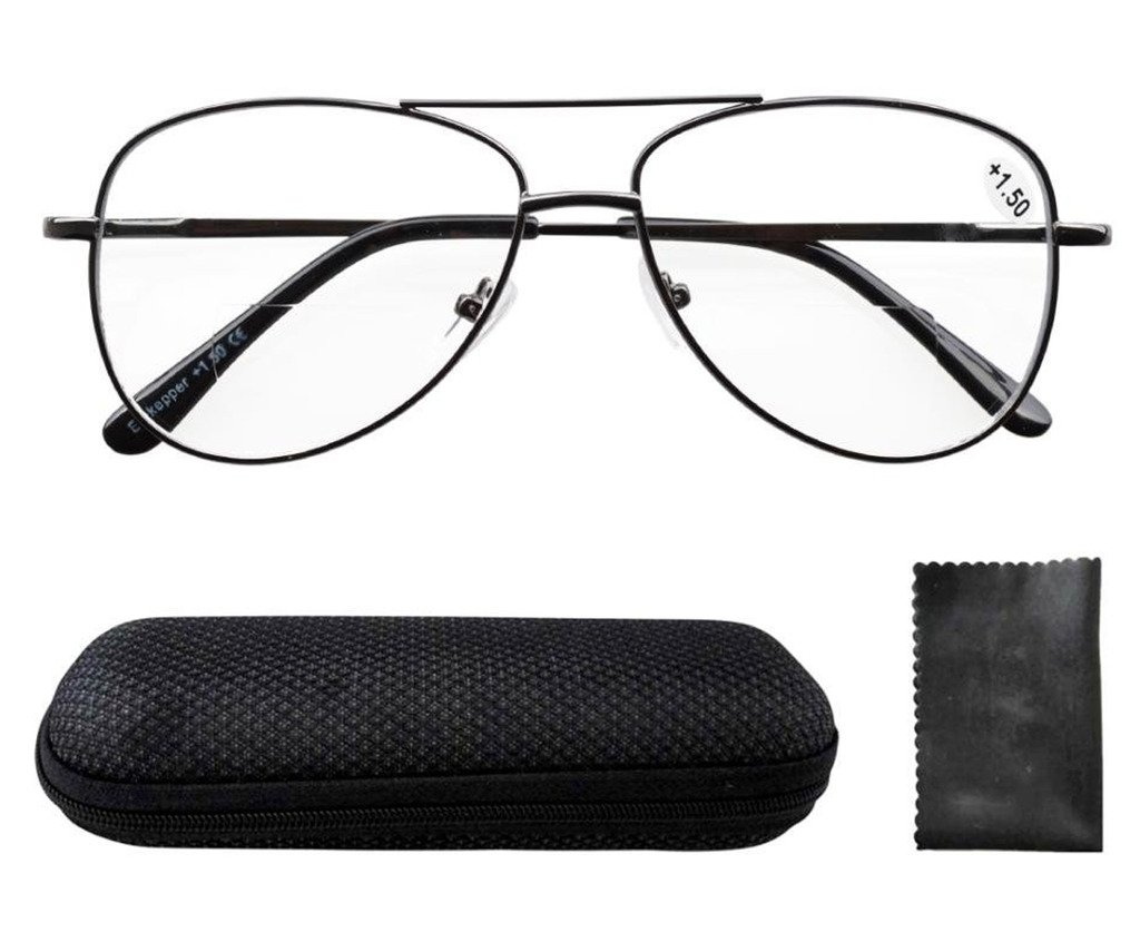 Eyekepper Spring Hinges Polycarbonate Lens Pilot BiFocal Reading Glasses +2.0
