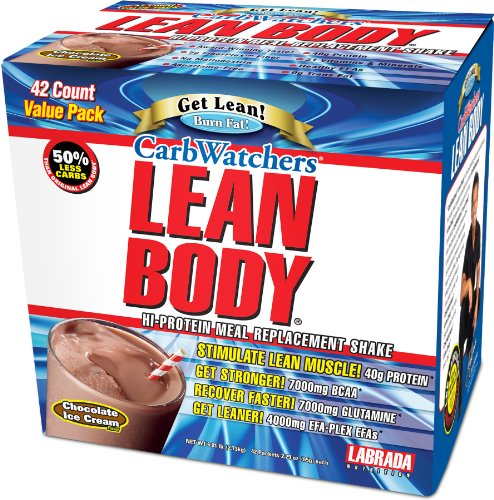 Powder Carb Body Lean Watchers - Labrada Carb Watchers, Chocolate, 42-Count