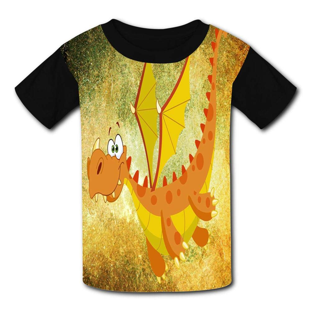 Flying Dinosaurs Child Short Sleeve Fashion T-Shirt Of Boys And Girls M