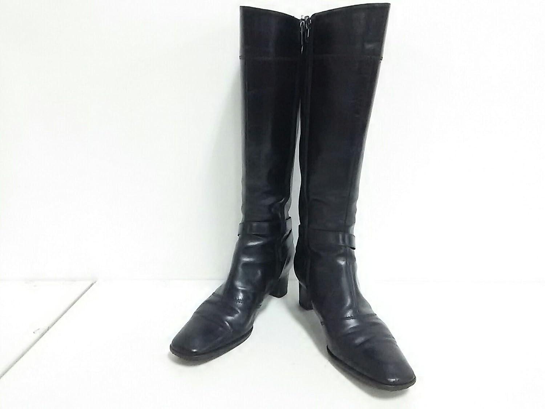 (サルヴァトーレ レディース フェラガモ) Salvatore Ferragamo ブーツ ロングブーツ フェラガモ) レディース ブーツ 黒【中古】 B07F6GHW47 -, TRANCESS:adc04d70 --- rakuten-apps.jp