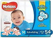 Huggies Fralda Tripla Proteção Mega M, 54 Fraldas