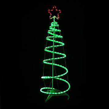 Green spiral tree star led rope light 120cm christmas decoration green spiral tree star led rope light 120cm christmas decoration indooroutdoor aloadofball Gallery