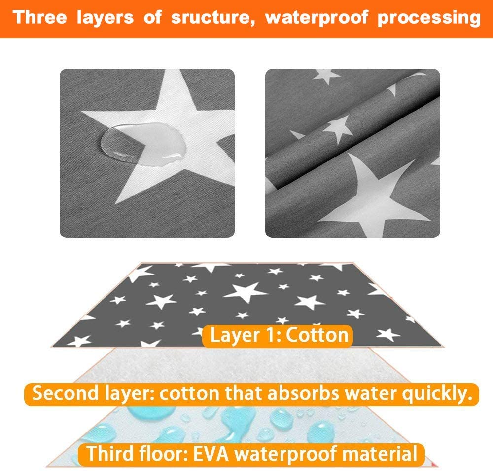2 Pcak Baby Changing Mat Large Waterproof Washable Babies Diaper Changing Mattress Babys Travel Folding Changing Mats Newborn and Infant Portable Foldable Changing Pad Kids Neutral Fold Up Nappy