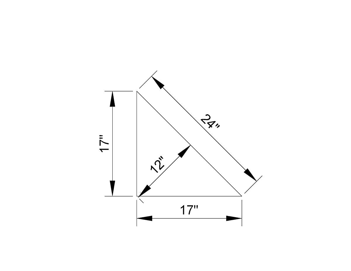 "24"" Rustic, Floating Wood Corner Shelf, Pine, speakers, tv, Farmhouse"