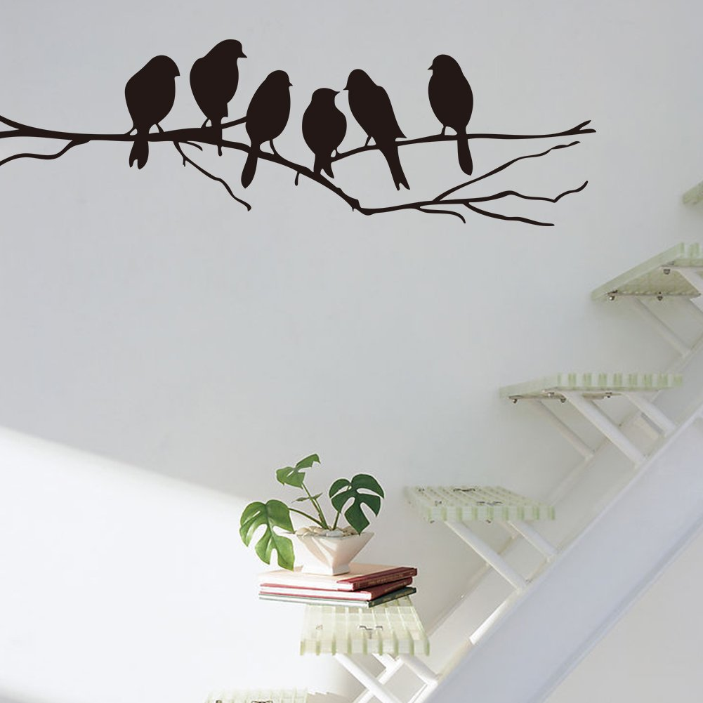 Mercurymallbirds on a wire wall stickers birds wall stickers quote vinyl wall sticker sitting room sofa wall bedroom art decoration mural art wallpaper